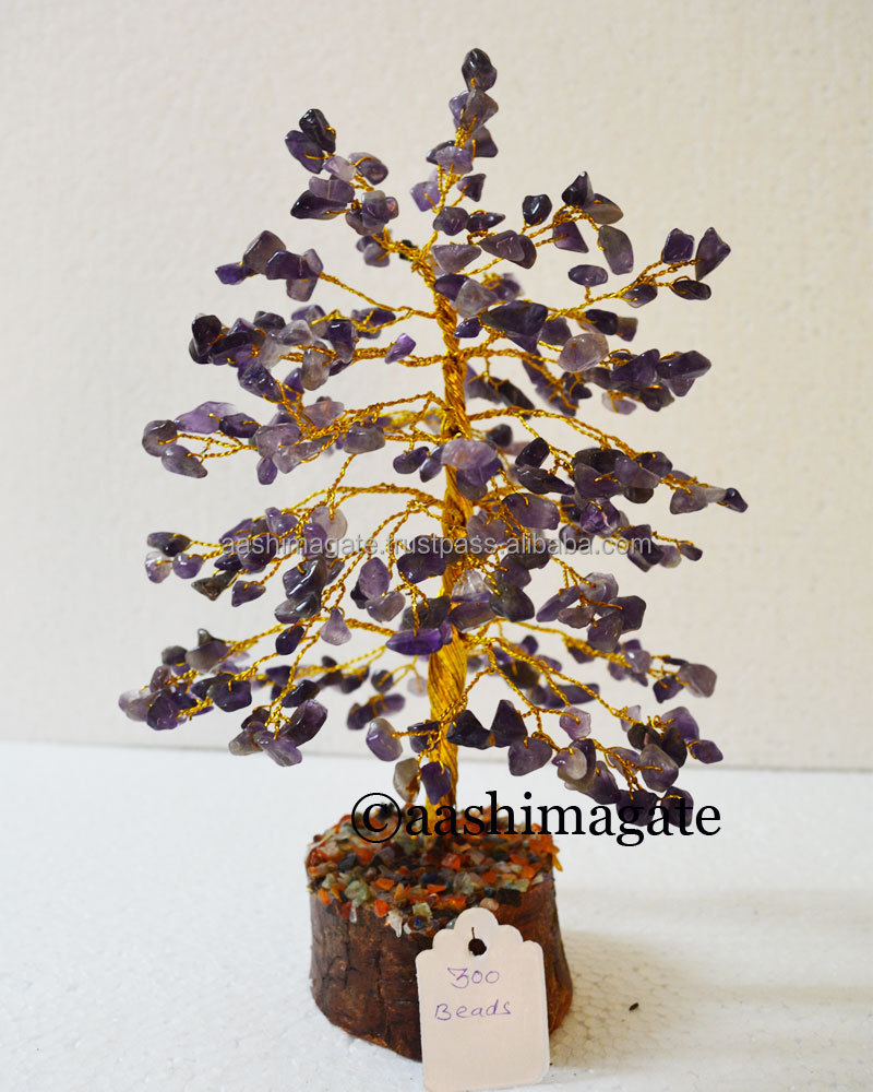 Bds 300 300 Bds Amethyst Golden Wire Gemstone Tree Gemstone Trees Stone Crafts Buy Gemstone Tree Stone Crafts Wooden Base Gem Tree Chakra Healing Gemstone