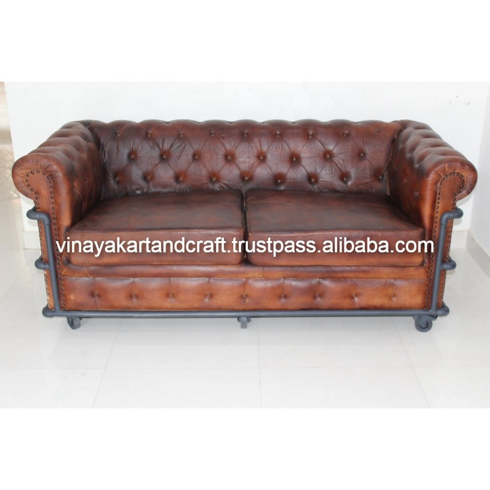 Bettsofa Vintage Vintage Industrial Leather Sofa Jodhpur Antique 2 Sitter Leather Sofa On Wheels European Style French Design Chesterfield Sofa Buy Chesterfield