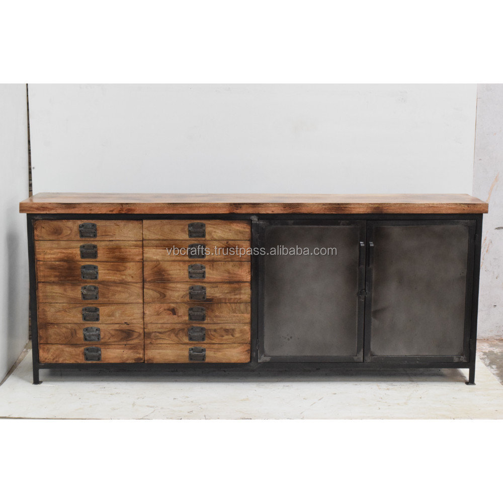 Sideboard Metall Industrie Industrie Metall Multidrawer Sideboard Buy Industrie Metall Eisen Sideboard Holz Metall Sideboard Industrielle Sideboard Metall Möbel Product On