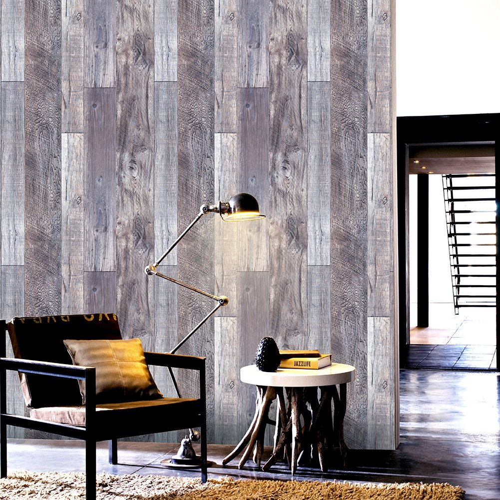 Wallpaper Murals For Bathrooms Buy Haokhome 606 Distressed Wood Plank Wallpaper Rolls Blue Beige