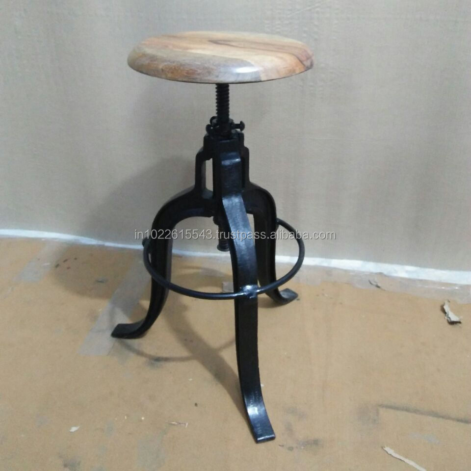 Industrielle Höhe Einstellbar Holz Metall Bar Hocker Vintage Schwere Metall Holz Barhocker Buy Cheap Metal Bar Stools Vintage Industrial Style Stool Metal Bar Stool Product On Alibaba Com