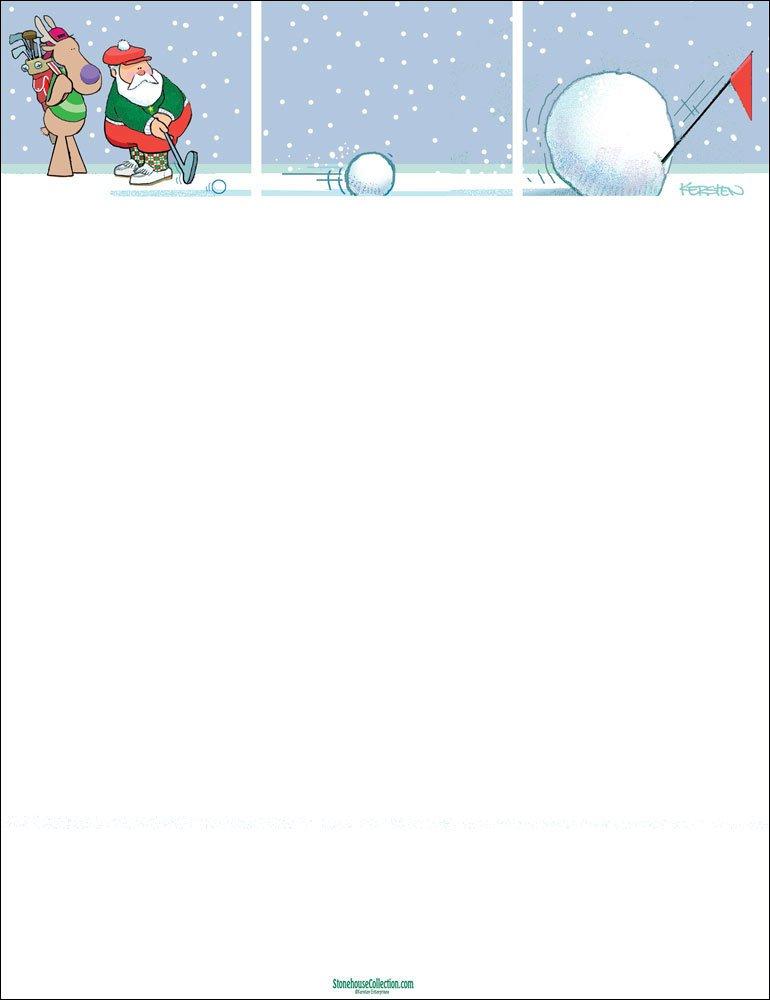 Buy Holiday Stationery - Funny Golf Stationery- 85 x 11-80 Fun