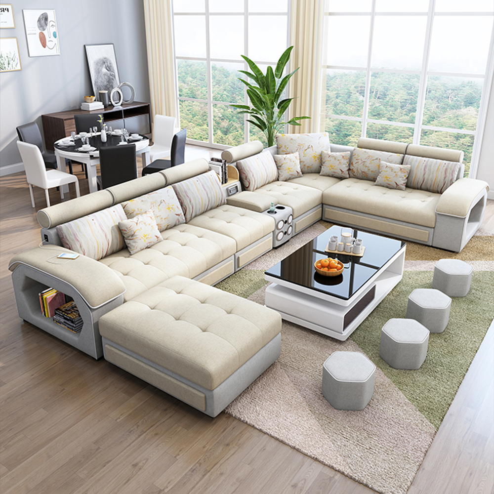 Guandong Factory Sales Wholesale U Shaped Leather Fabric Living Room Sofa Set Designs Buy U Shaped Leather Sofa Set U Shaped Sofa Set Designs Leather Fabric Living Room Sofa Set Product On Alibaba Com