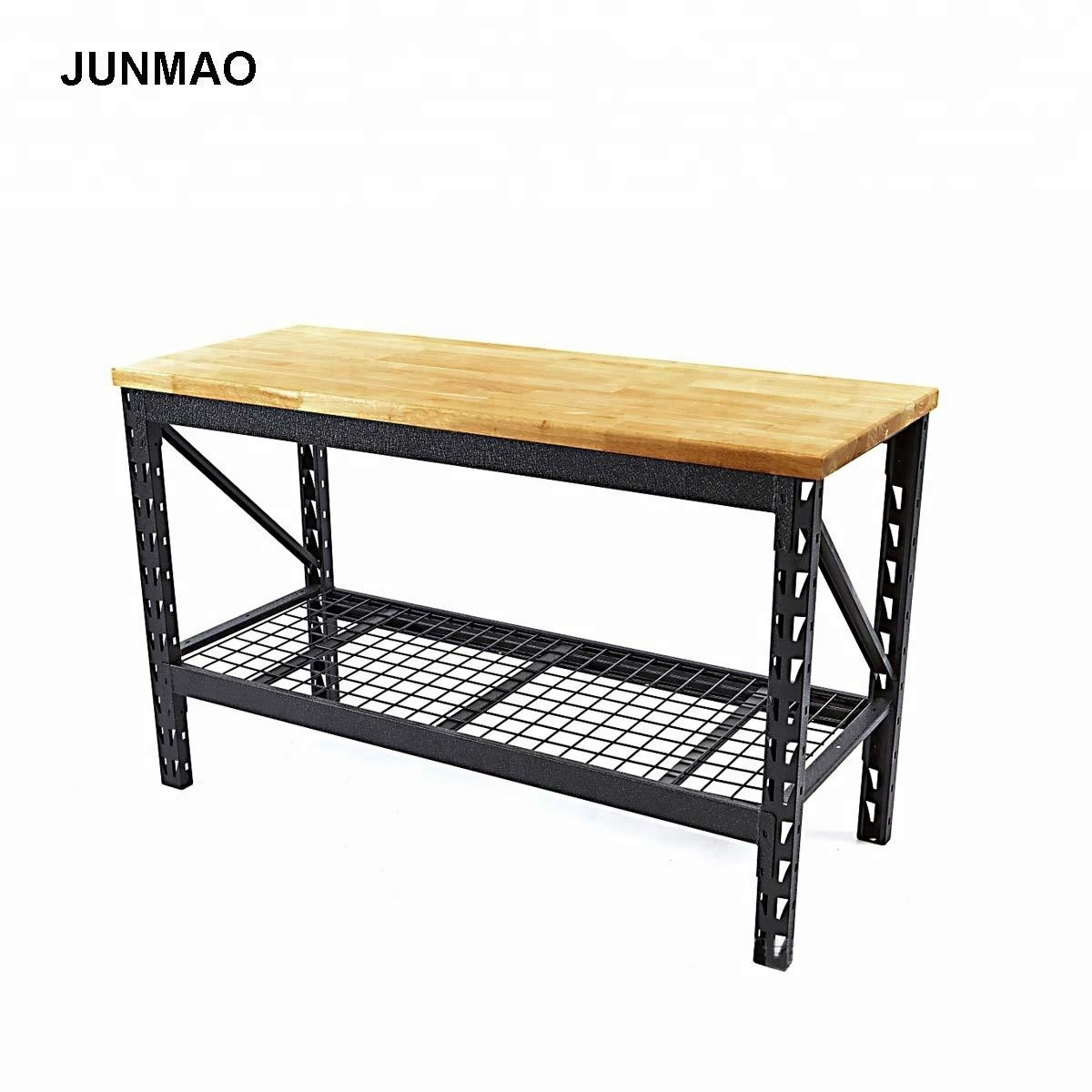 Diy Hardwood Top Adjustable Steel Legs Heavy Duty Garage Workbench Buy Heavy Duty Garage Workbench Garage Workbench Heavy Duty Workbench Product On Alibaba Com