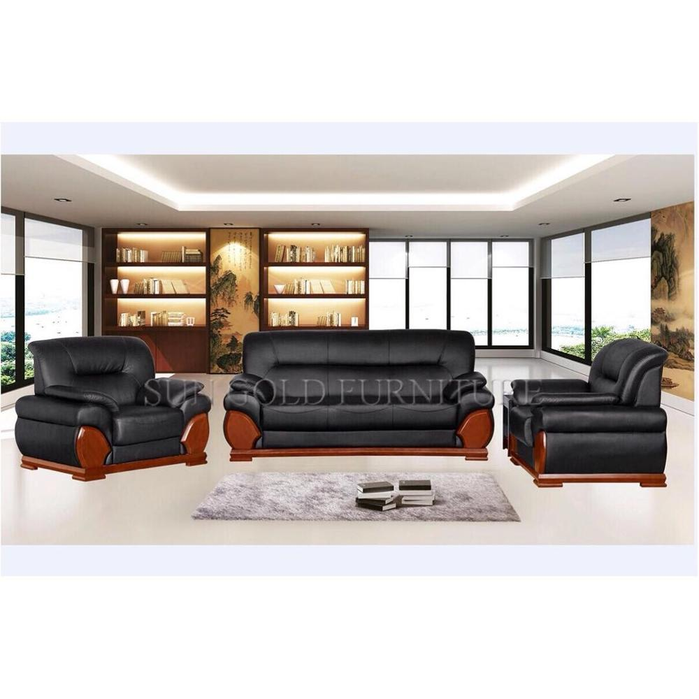 Sz Sf8035 Luxury Black Leather Sofa Set Designs Executive Office Wooden Sofa Buy Office Wooden Sofa Black Leather Sofa Leather Sofa Set Product On Alibaba Com