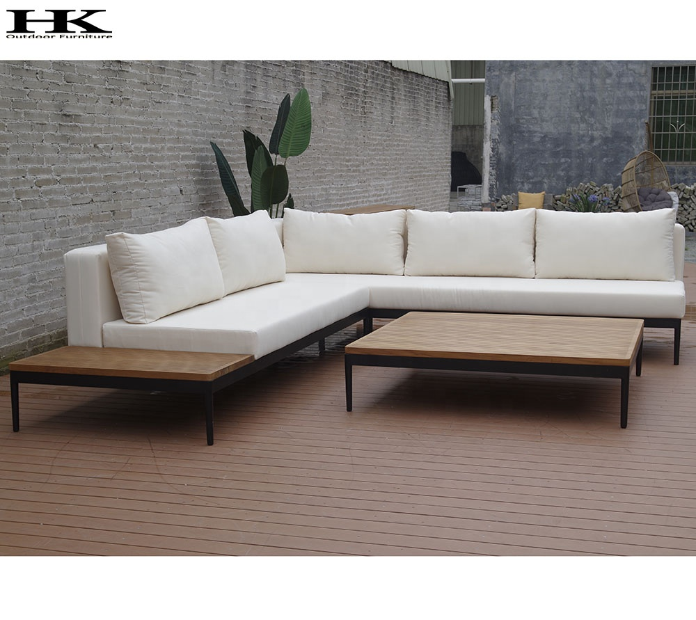 Outdoor Sofa Set Discount Patio Furniture Garden Sofa Set With Teak Wood Table Top Tea Table Buy Garden Sofa Set Outdoor Sofa Set Discount Patio Furniture Product On Alibaba Com