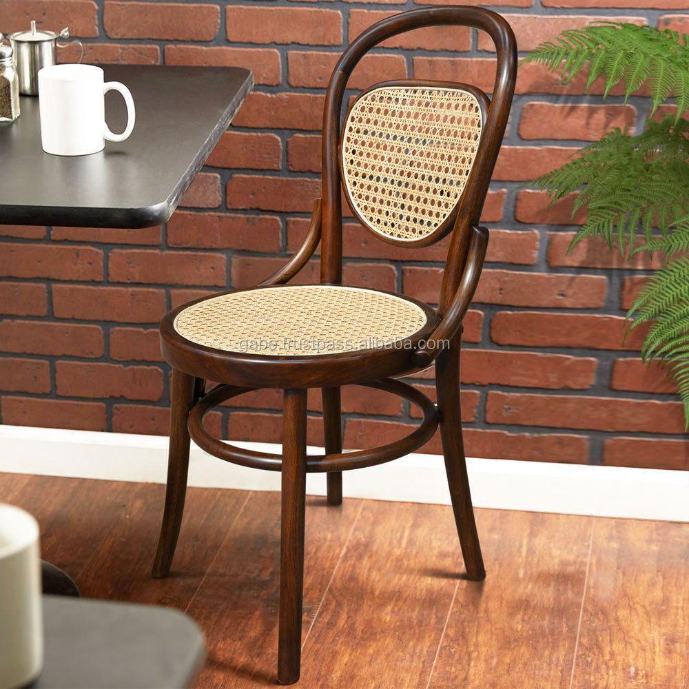 Chair Cafe Bentwood Mahogany With Rattan Cane Indonesian Wood Furniture Chair View Bentwood Chair Product Details From Pt Gabe International On Alibaba Com