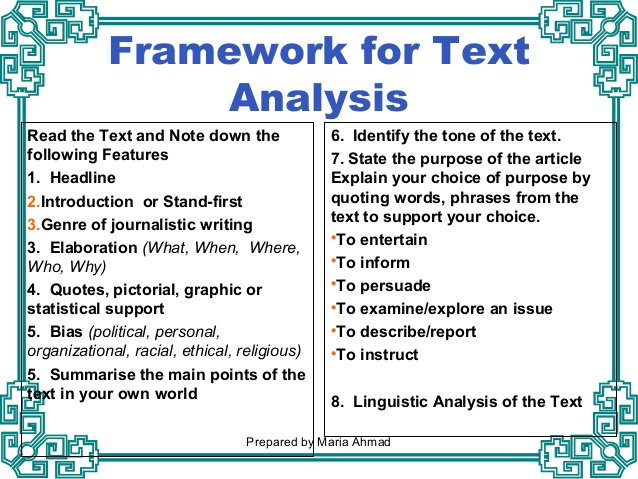 How to analyze text Coursework Writing Service