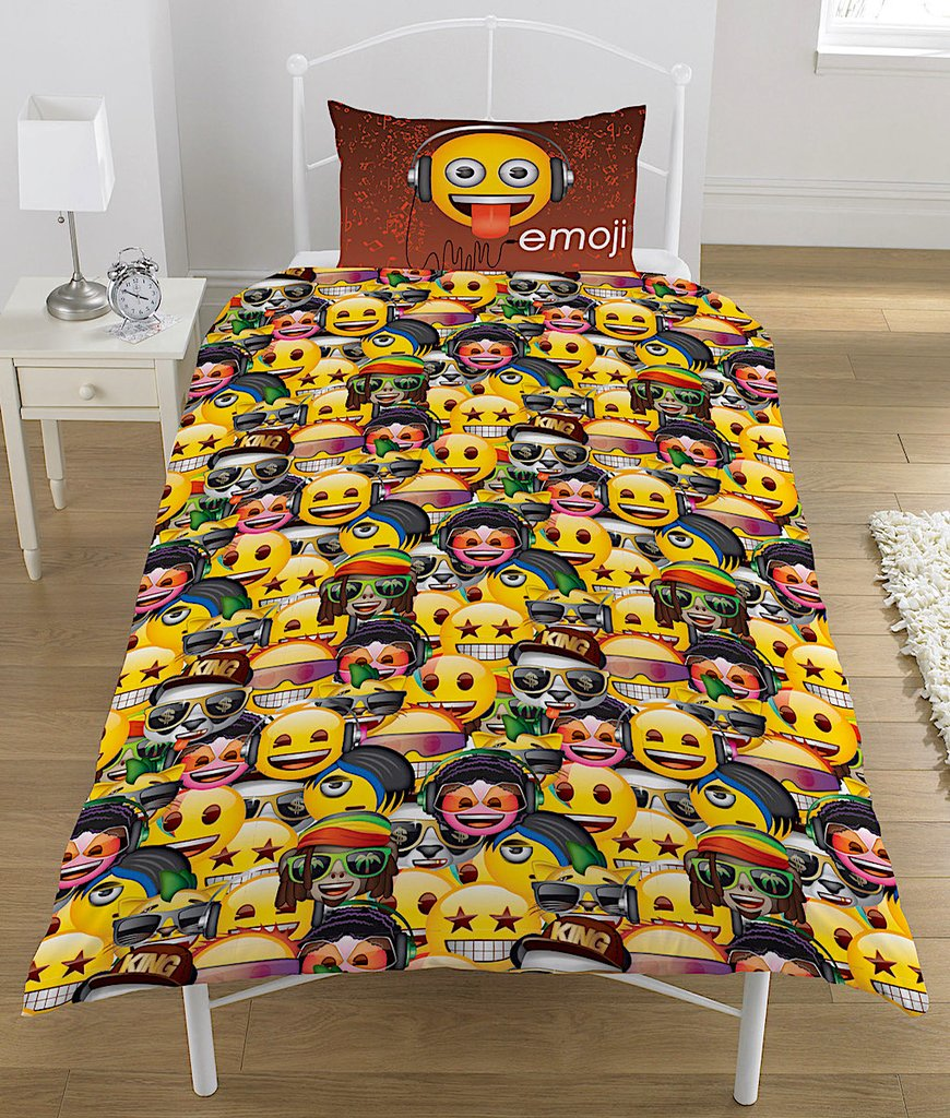 Kaufe Emoji Eat Sleep Dance Bed Linen Single Duvet Cover Set 135x200 50x75 Cm
