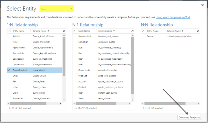 Relationship Page in Dynamics CRM Document Generation 2016