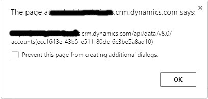 CRUD operations using Dynamics CRM Web API