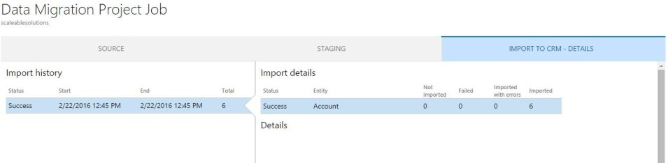 Microsoft Dynamics CRM Data Loader Service