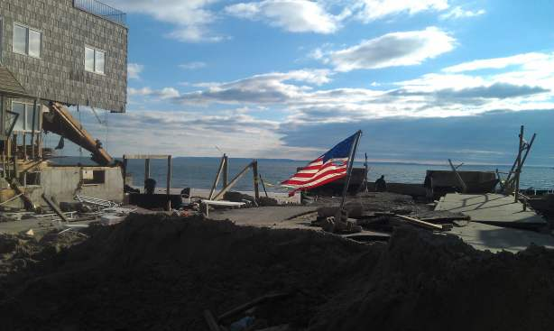 Hurricane Sandy in the Far Rockaways, NY. Looting, flooding and still no power or relief in sight...
