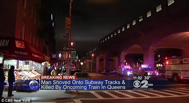 Queens subway murder.