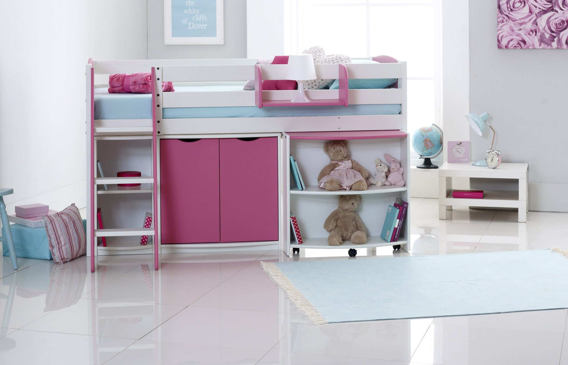Cabin Bed With Pull Out Desk Kids Mid Sleeper Cabin Bed With Pull Out Desk Cupboard