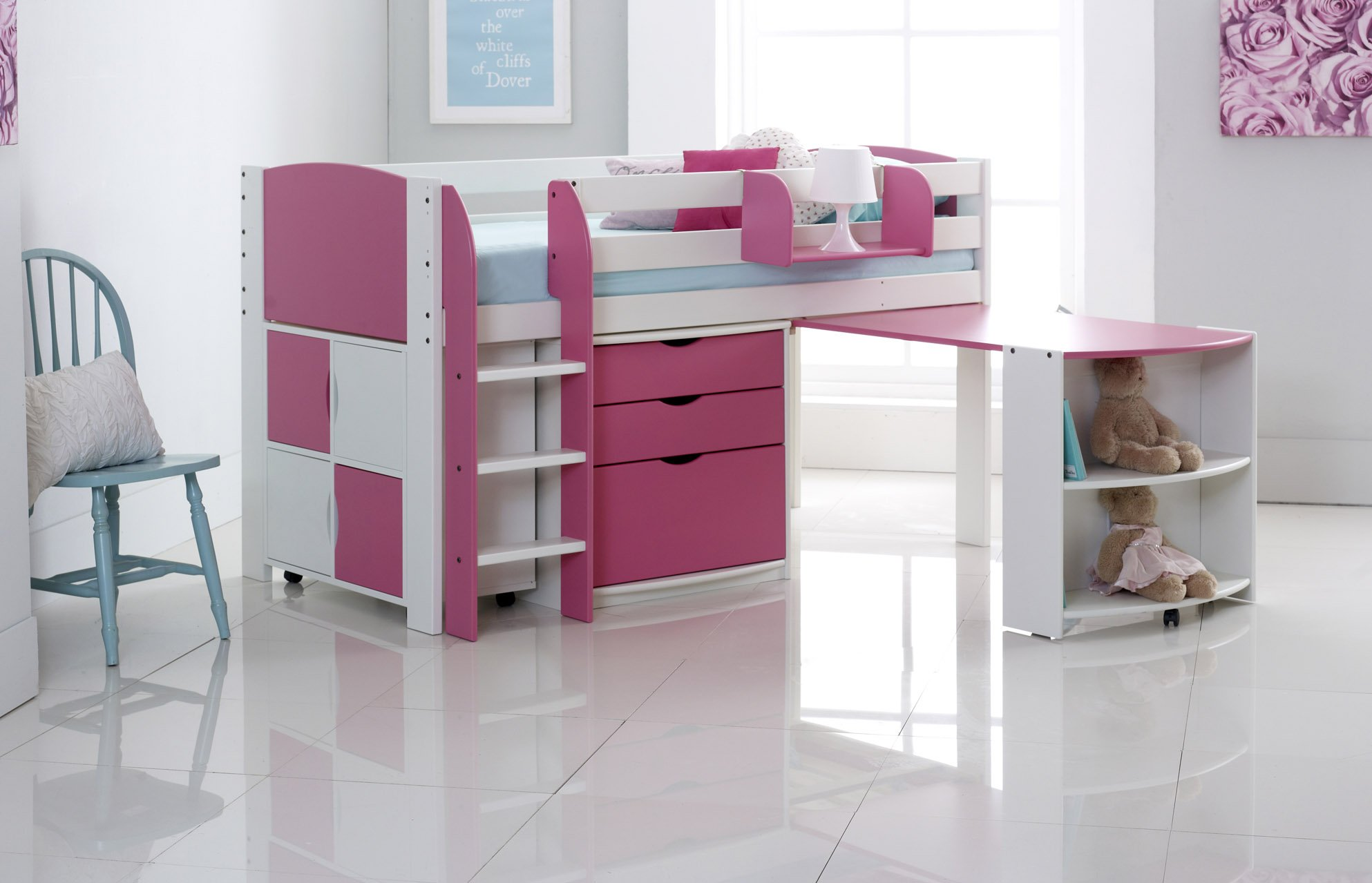 Cabin Bed With Pull Out Desk Mid Sleeper Cabin Bed With Pull Out Desk 3 Drawer Chest
