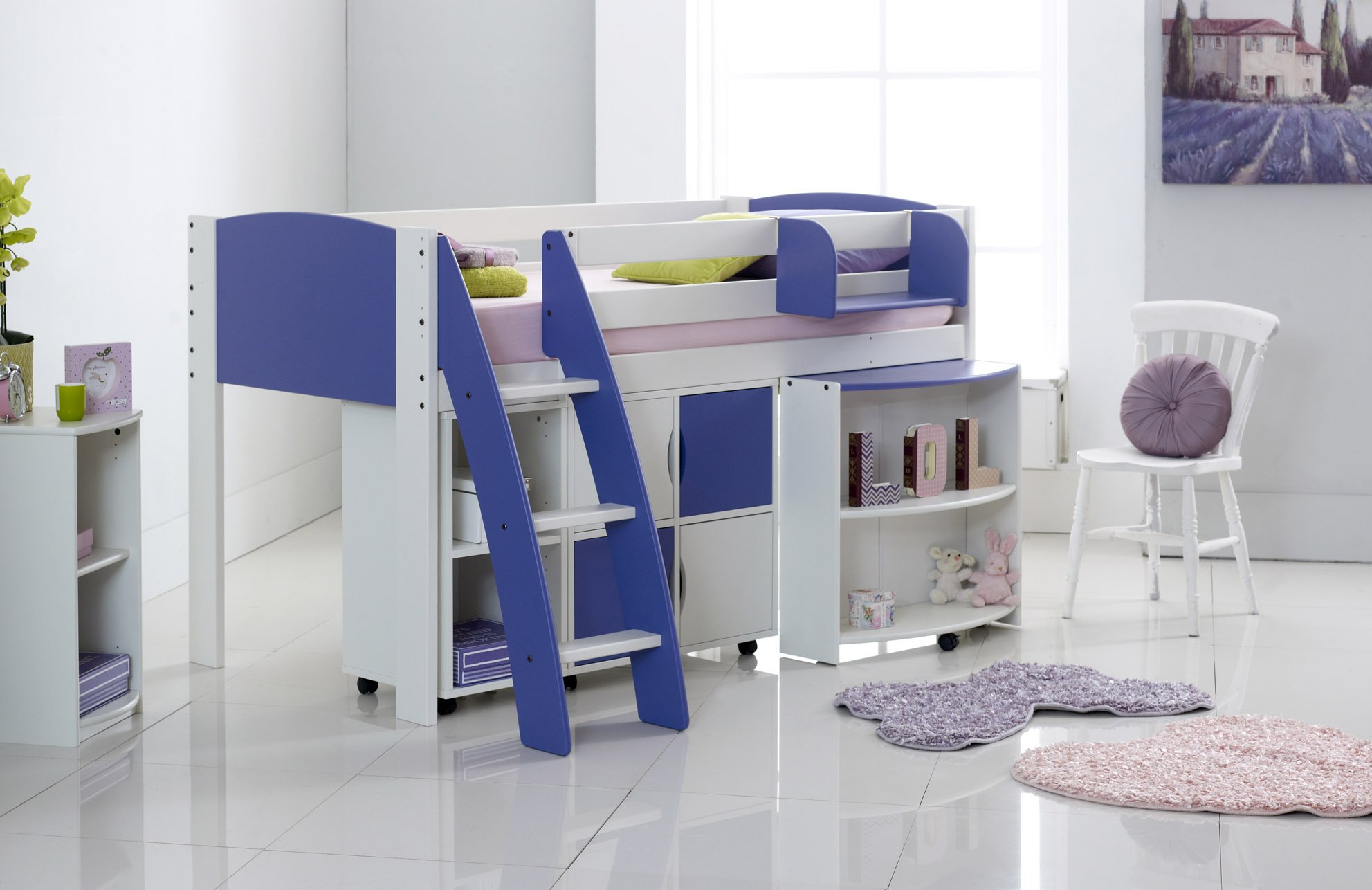 Cabin Bed With Pull Out Desk Cabin Bed Mid Sleeper With Pull Out Desk Quad And Duo Shelf