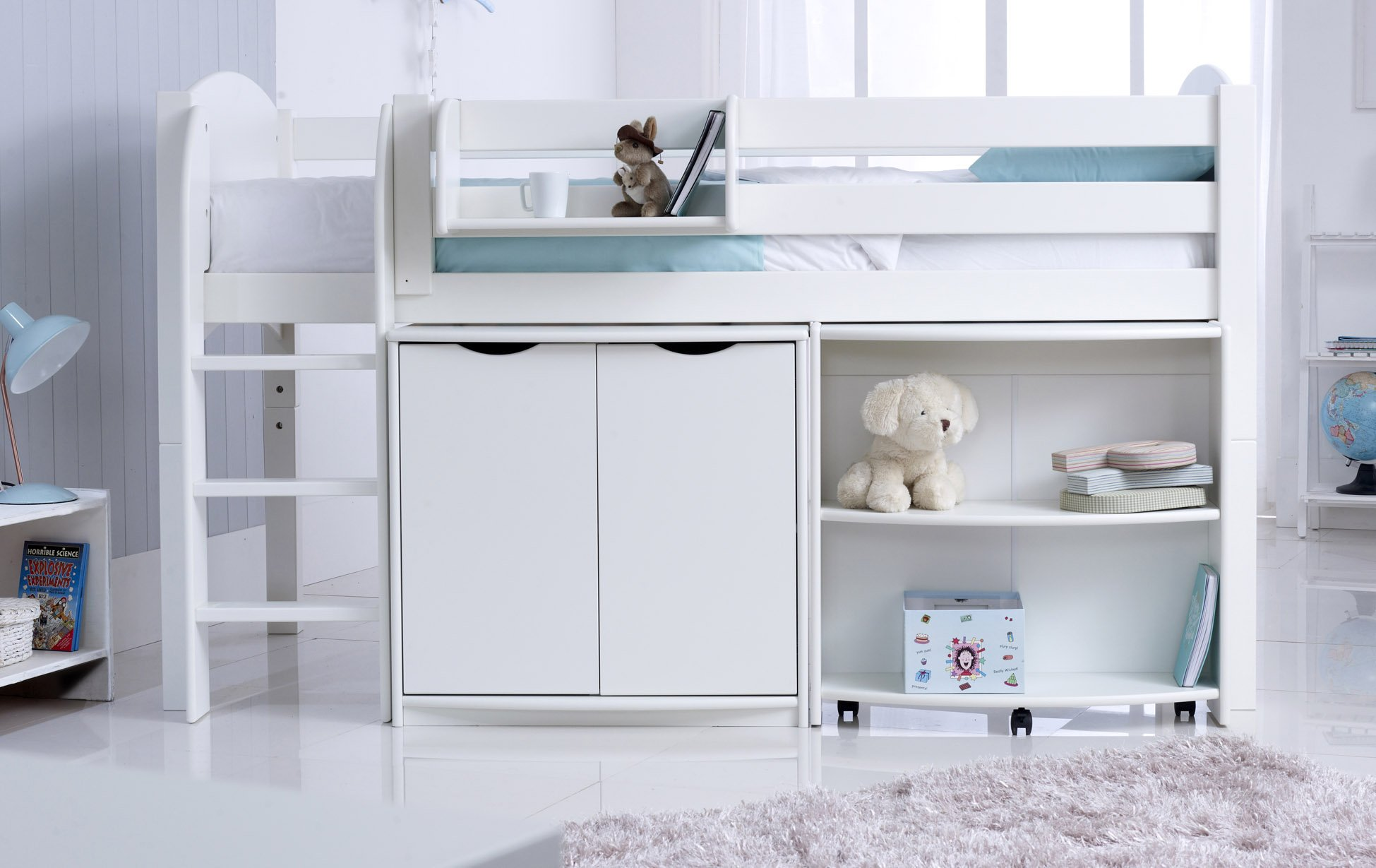 Cabin Bed With Pull Out Desk Child 39s Midsleeper Cabin Bed With Desk And Cupboard