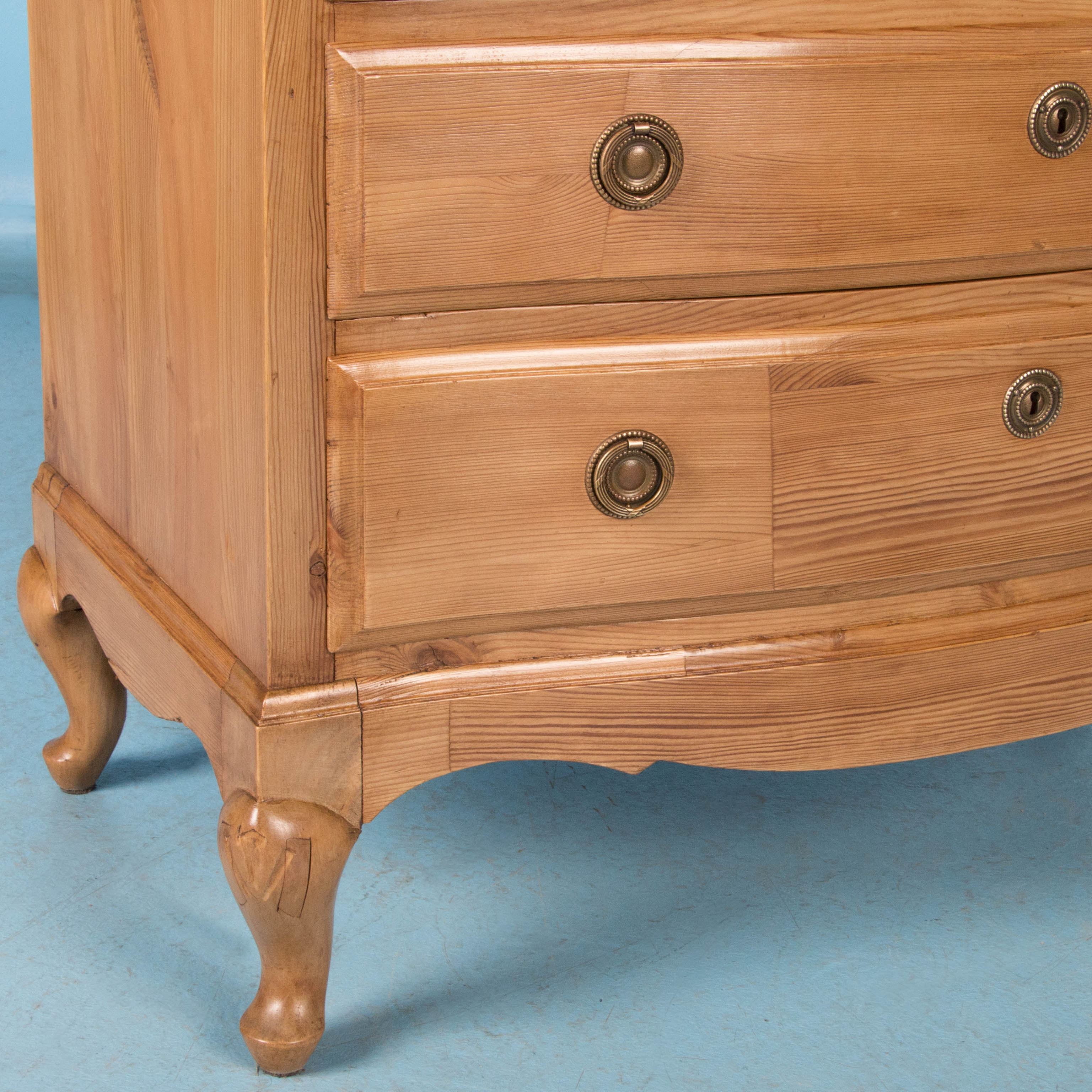 Waxed Pine Chest Of Drawers Small Antique Swedish Pine Chest Of Drawers