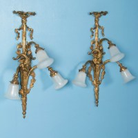 Pair of Large Antique 19th Century Victorian Brass Wall ...