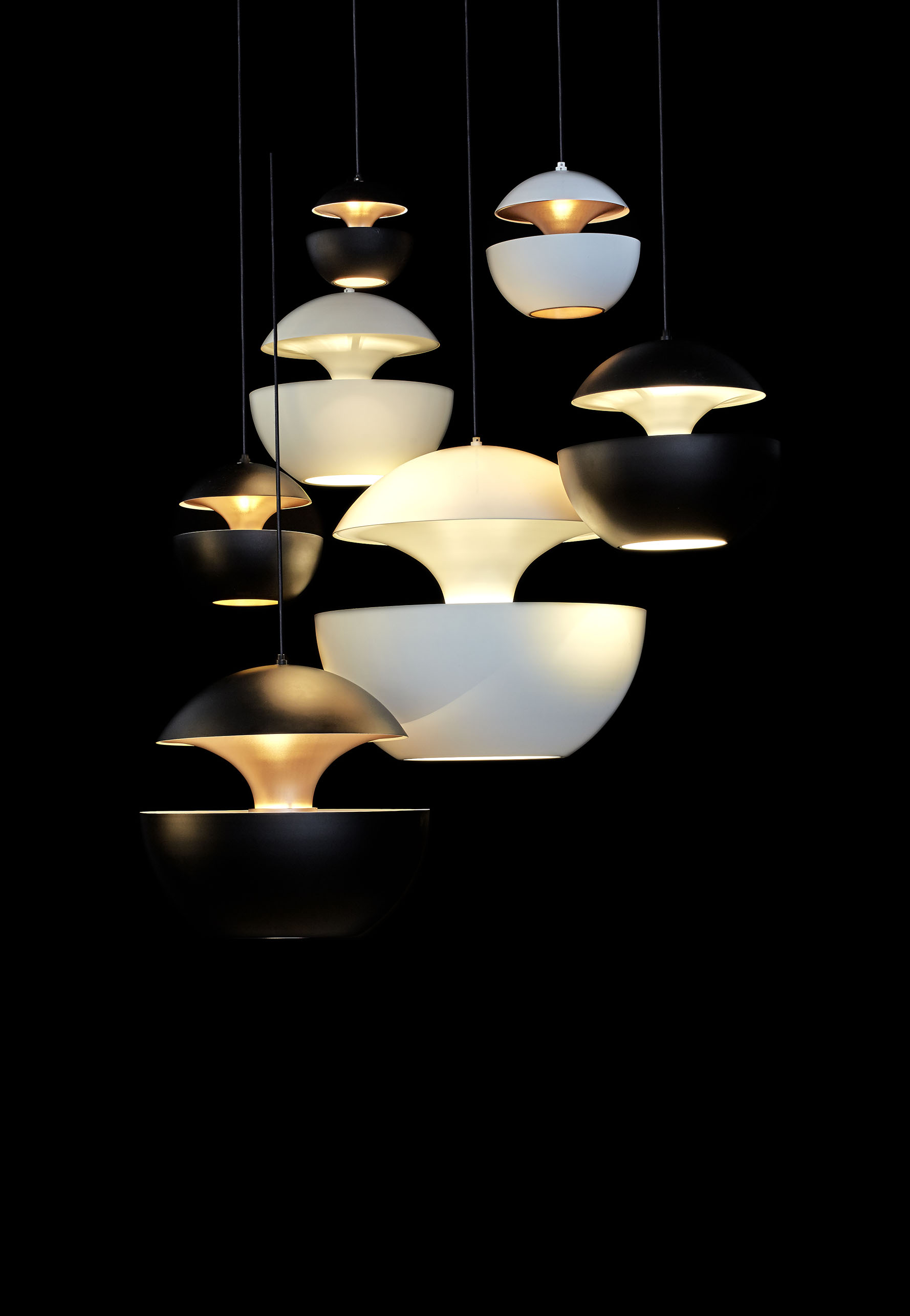 Suspension Scandinave Noir Suspension Here Comes The Sun - Dcw éditions