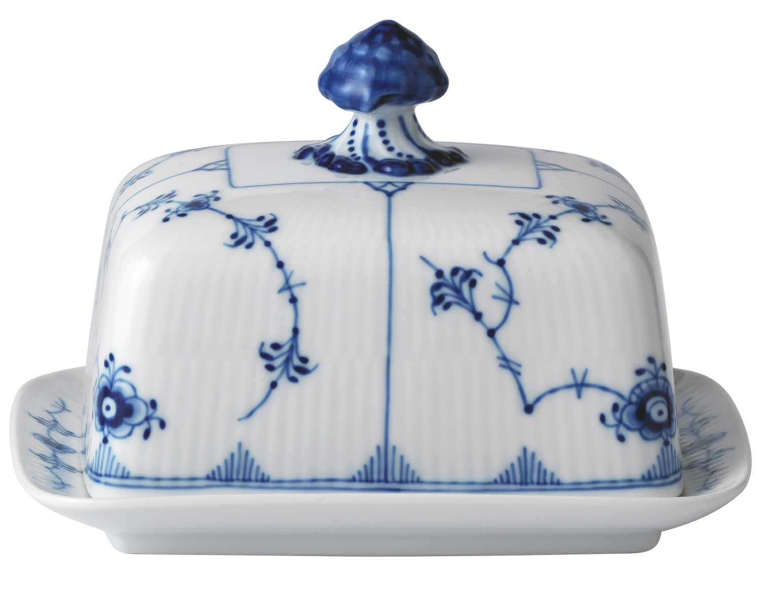 Royal Copenhagen Geschirr Royal Copenhagen Blue Fluted Plain Butter Dish