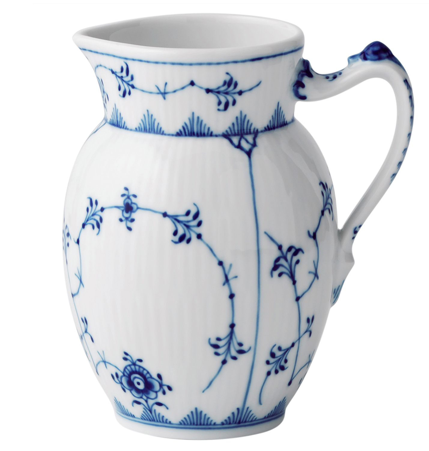 Royal Copenhagen Geschirr Royal Copenhagen Blue Fluted Plain Jug 38 L