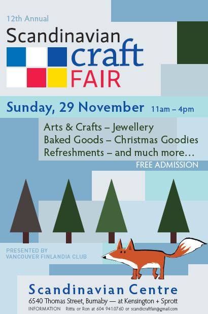 Scandinavian Craft Fair 2015 poster