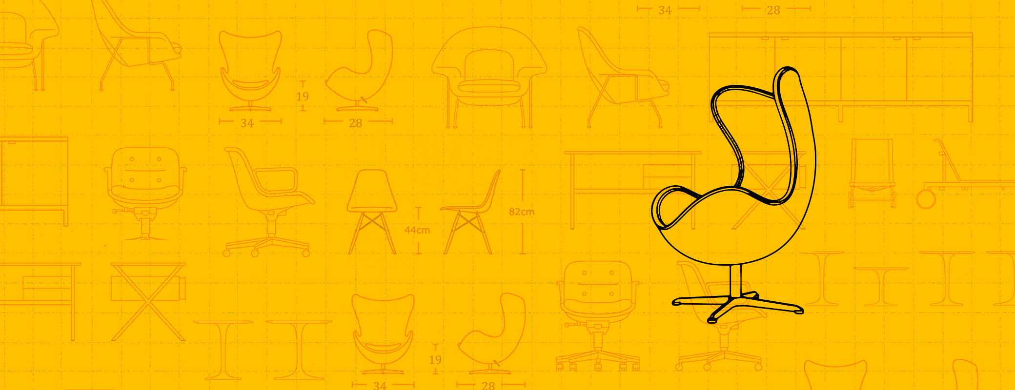 Yellow Möbel Domino The Definitive Source For Mid Century Modern Furniture