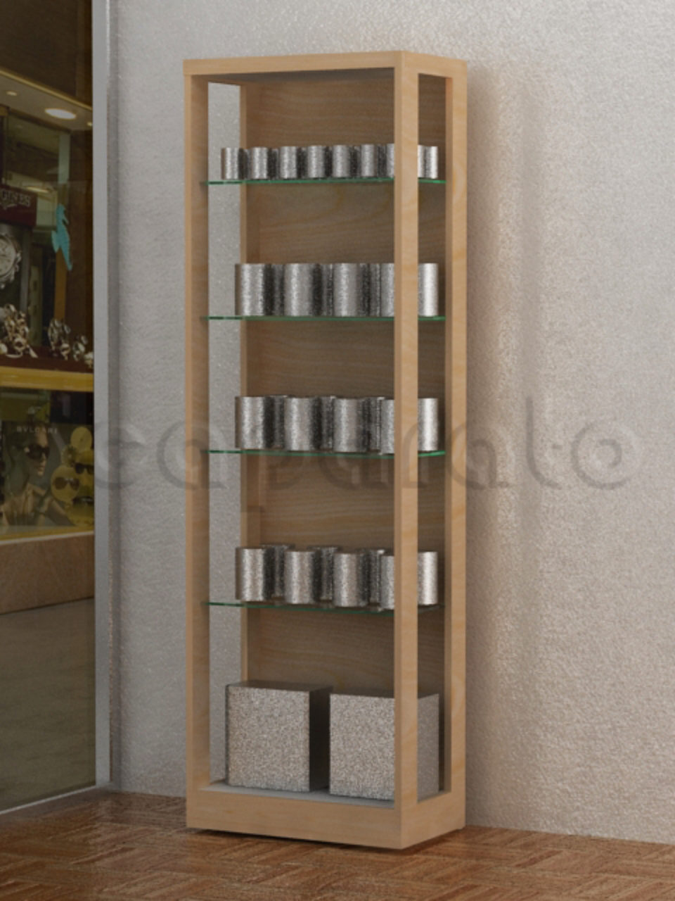 Wall Display Rack Ex27 Scaparato Retail