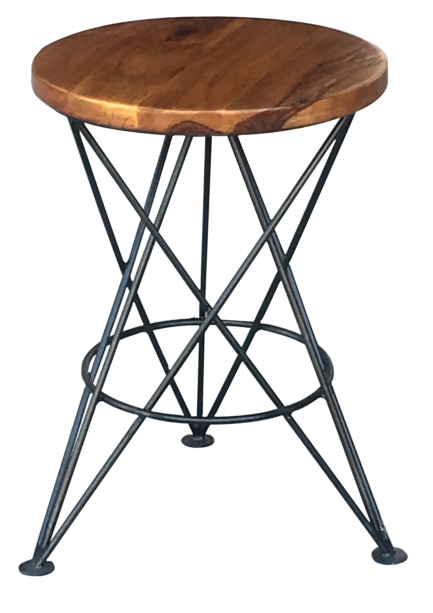 Wood And Metal Side Tables Solid Sheesham Hard Wood Side Table With Modern Metal Legs