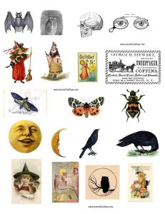 ScarletCalliope Halloween Vintage Graphic Images low res