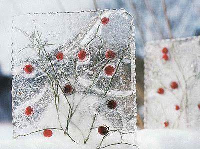 Ice decorations from Interior Design North