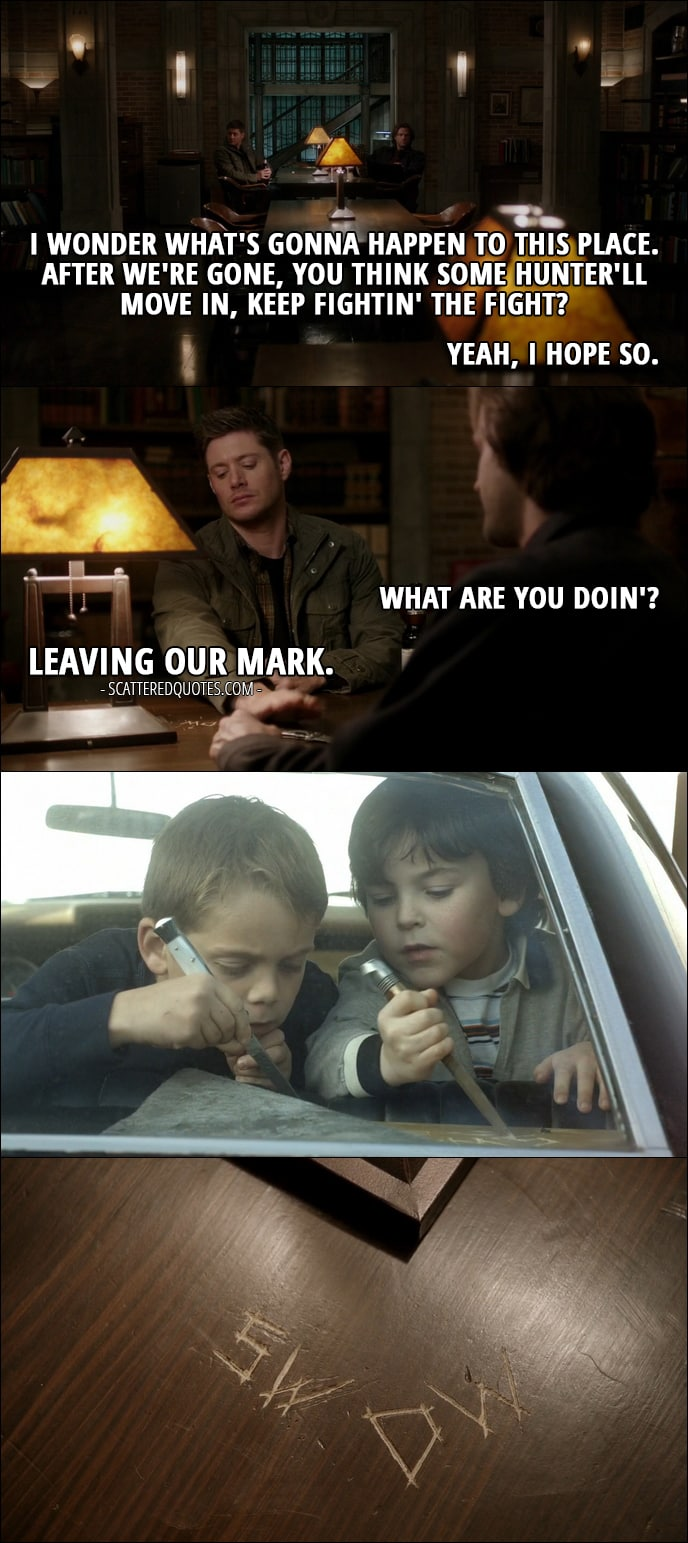Supernatural Wallpaper Dean Quotes 10 Best Supernatural Quotes From The Memory Remains