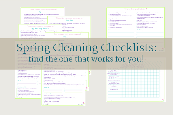 Spring Cleaning Printables - Scattered Squirrel - spring cleaning checklist