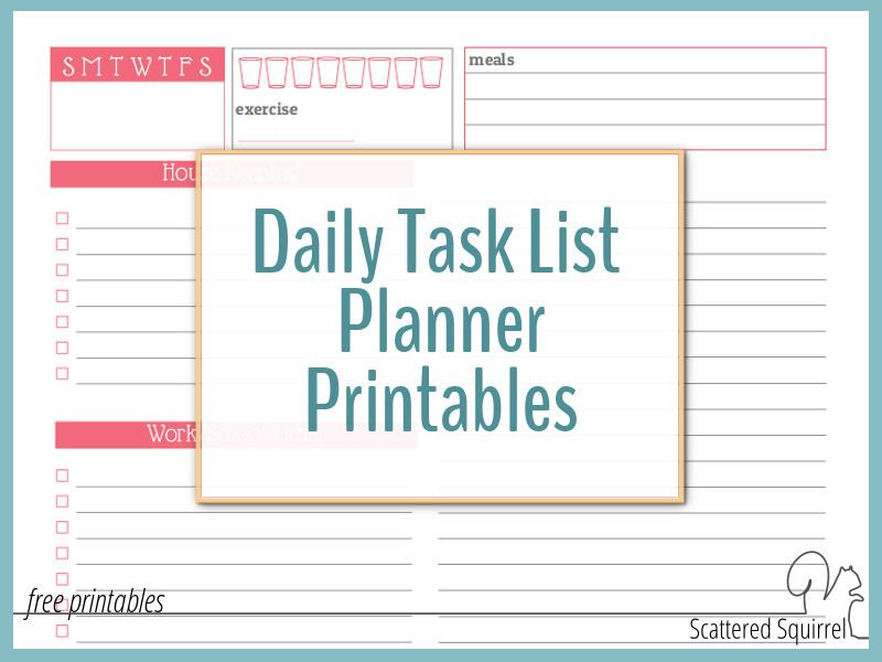 Use a Daily Task List Planner to Avoid Feeling Overwhelmed