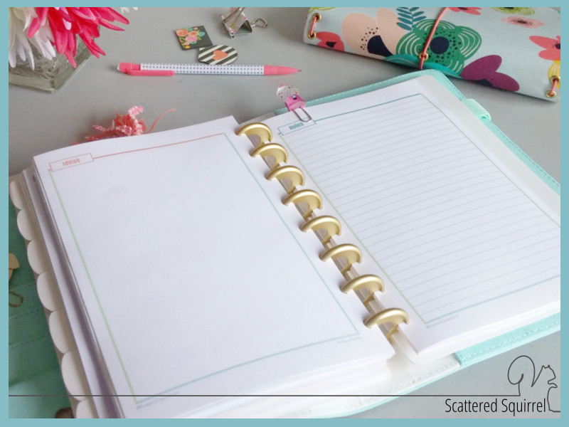 Setting Up My New Planner With New Planner Printables - free lined paper to print