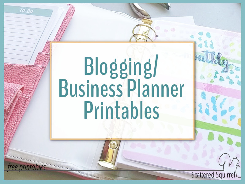 Introducing My New Blog Planner Printables!!! - Scattered Squirrel
