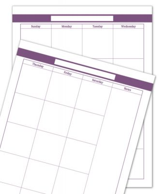 Colourful Blank Monthly Calendars Make a Great Jumping Off Point