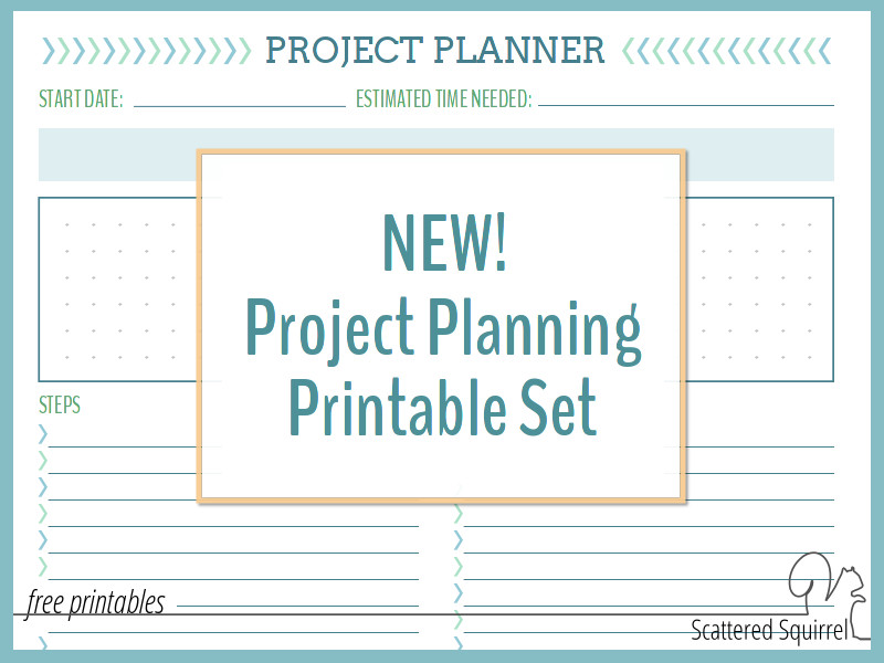NEW Project Planning Printable Set - Scattered Squirrel - project planning
