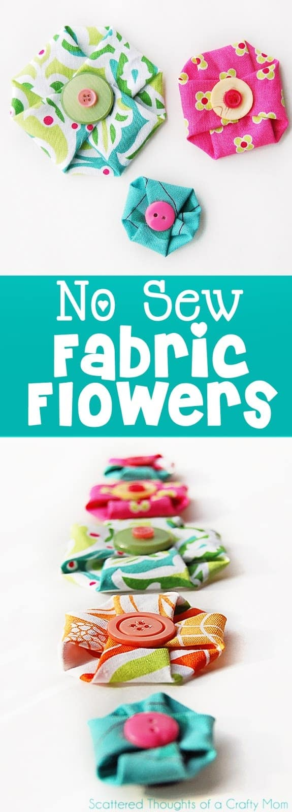 Sofa 84 Inch No Sew Fabric Flowers - Scattered Thoughts Of A Crafty Mom