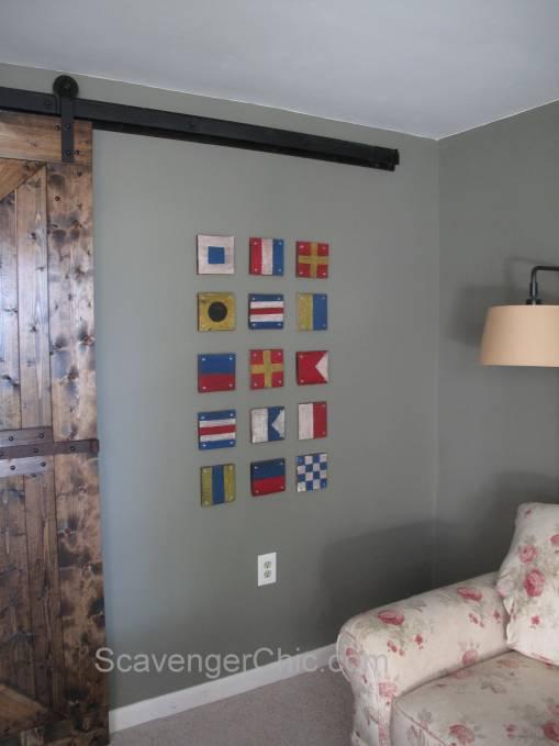 DIY Pallet Wood Maritime Signal Flag/ Wall decor