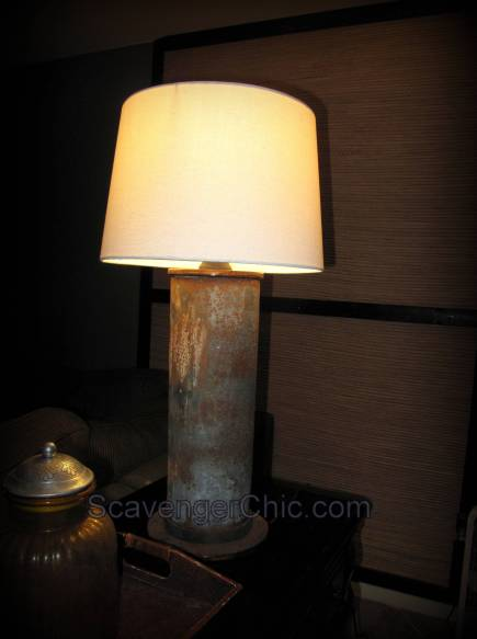 DIY Upcycled/Recycled Rusty Pipe Lamp