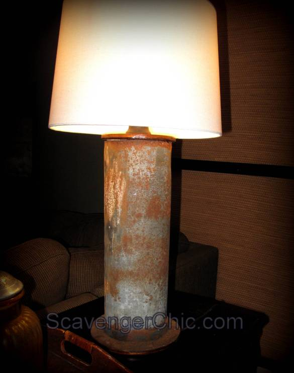 Upcycled, Recycled, Rusty Pipe Lamp