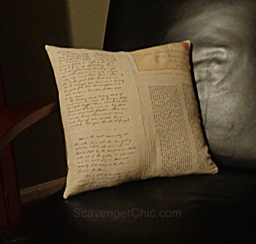 Mom's Old Letters Pillow DIY