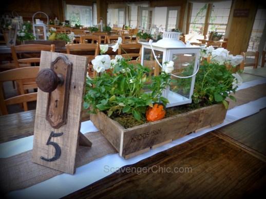 Pallet Wood Wedding Centerpiece, Khmaira Farm
