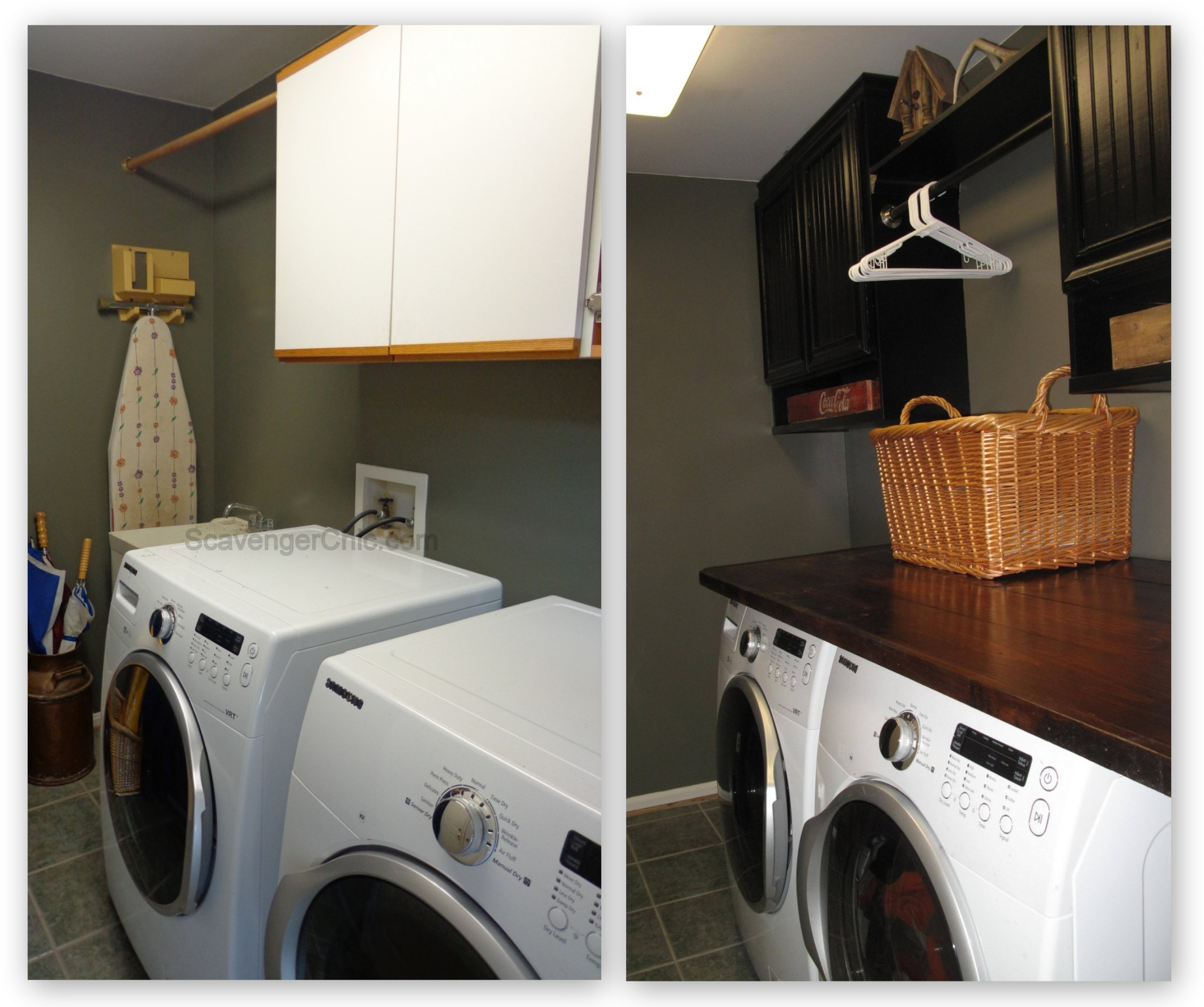 Countertop For Front Load Washer And Dryer - Wooden countertop diy