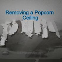 Removing a Popcorn ceiling diy