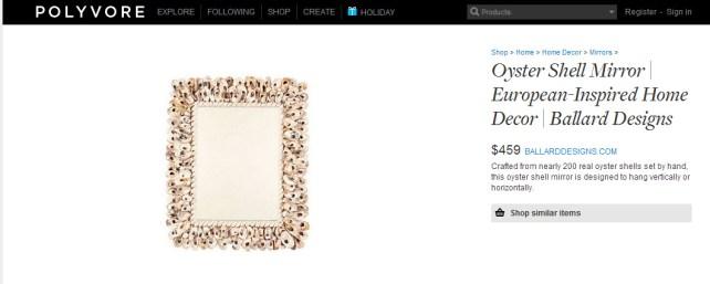 Oyster Shell Mirror European-Inspired Home Decor Ballard... - Polyvore - Google Chrome 1162014 120849 PM.bmp