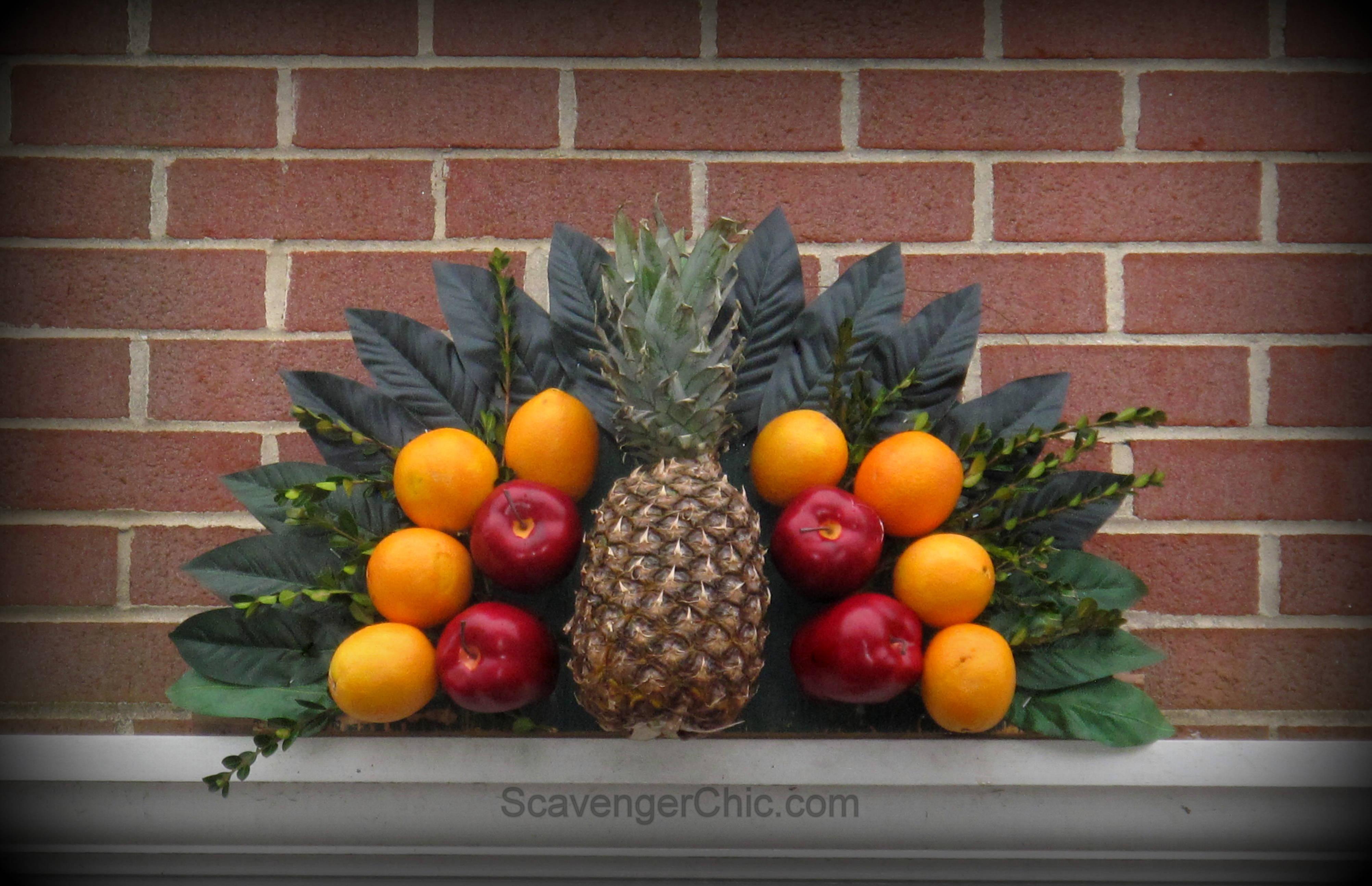 Fruit over the door christmas decoration - Williamsburg Inspired Over The Door Fruit Fan